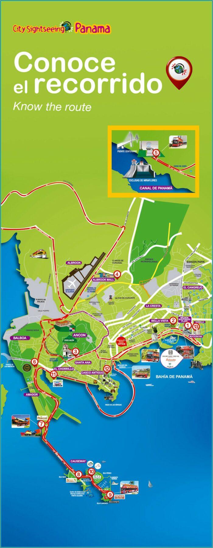 Rome Hop On Hop Off Bus Tour Route Map