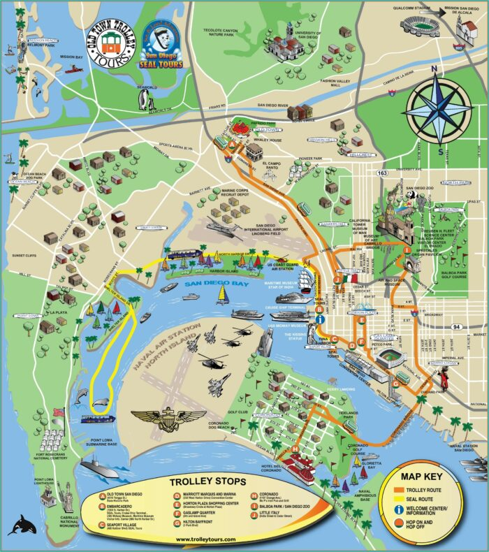 San Diego Tourist Attractions Map Pdf