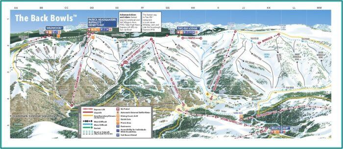 Ski Map Vail
