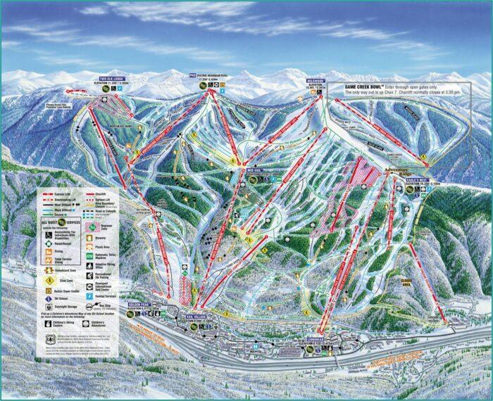 Ski Map Vail Colorado