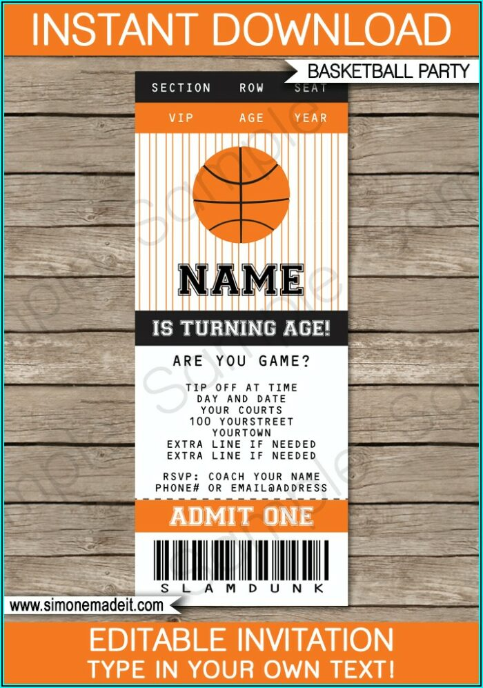 Sports Themed Birthday Invitation Maker
