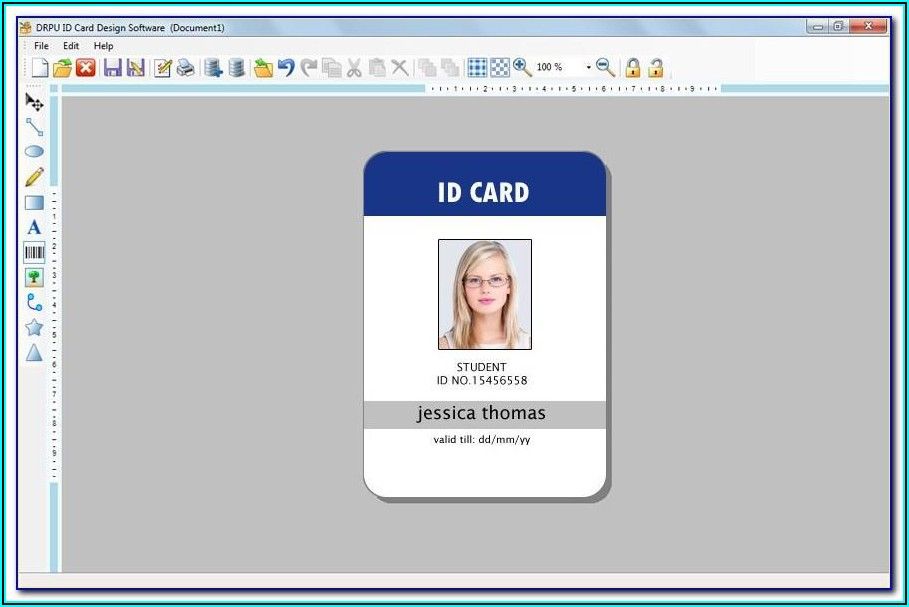 Staff Id Card Template Free Download
