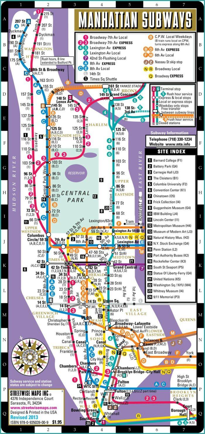 Subway Map New York City Manhattan