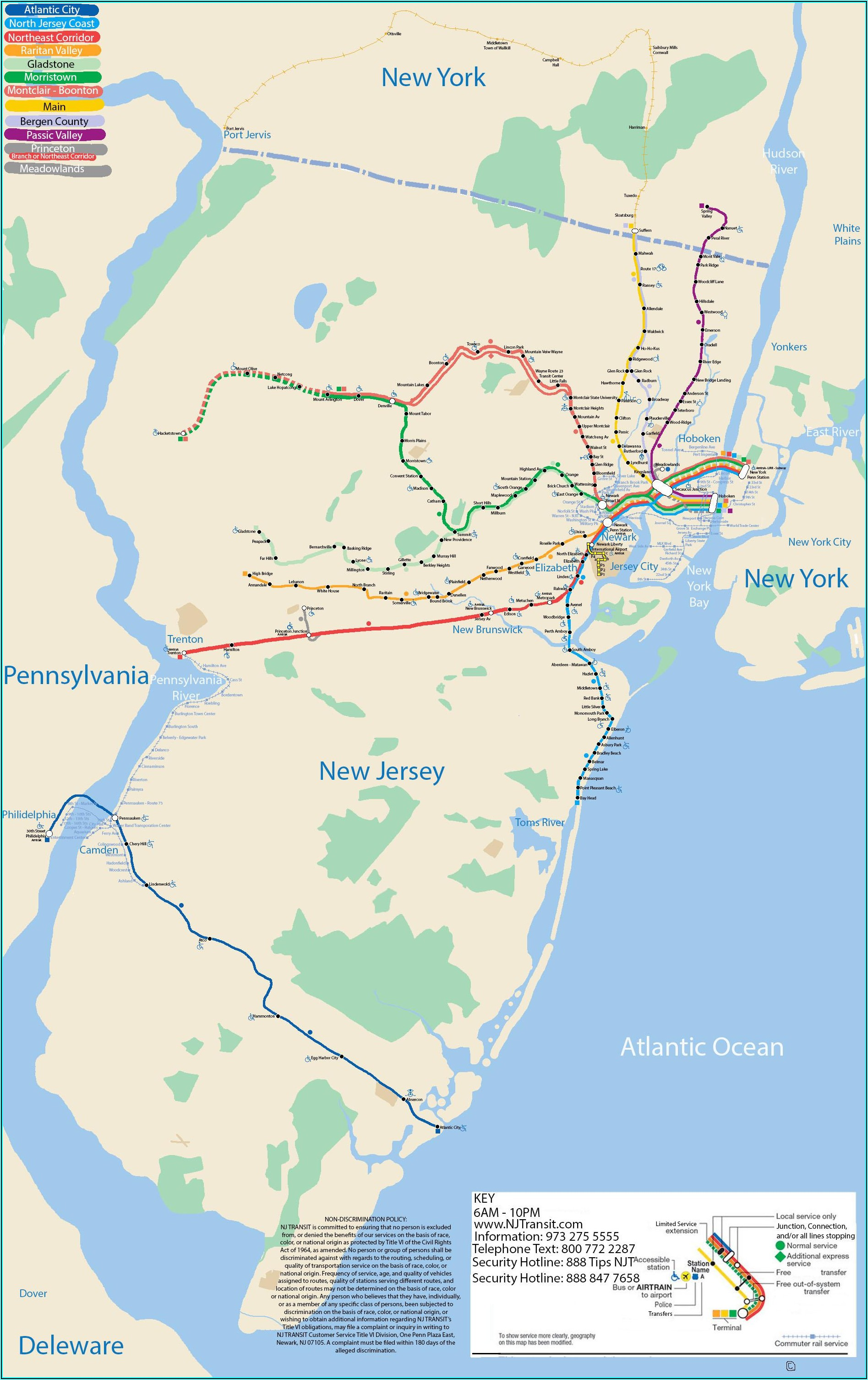 Subway Map New York Jersey City
