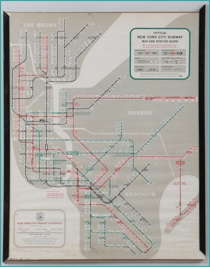Subway Station Map New York City