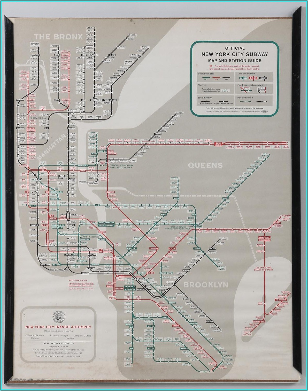 Subway Station Map New York City