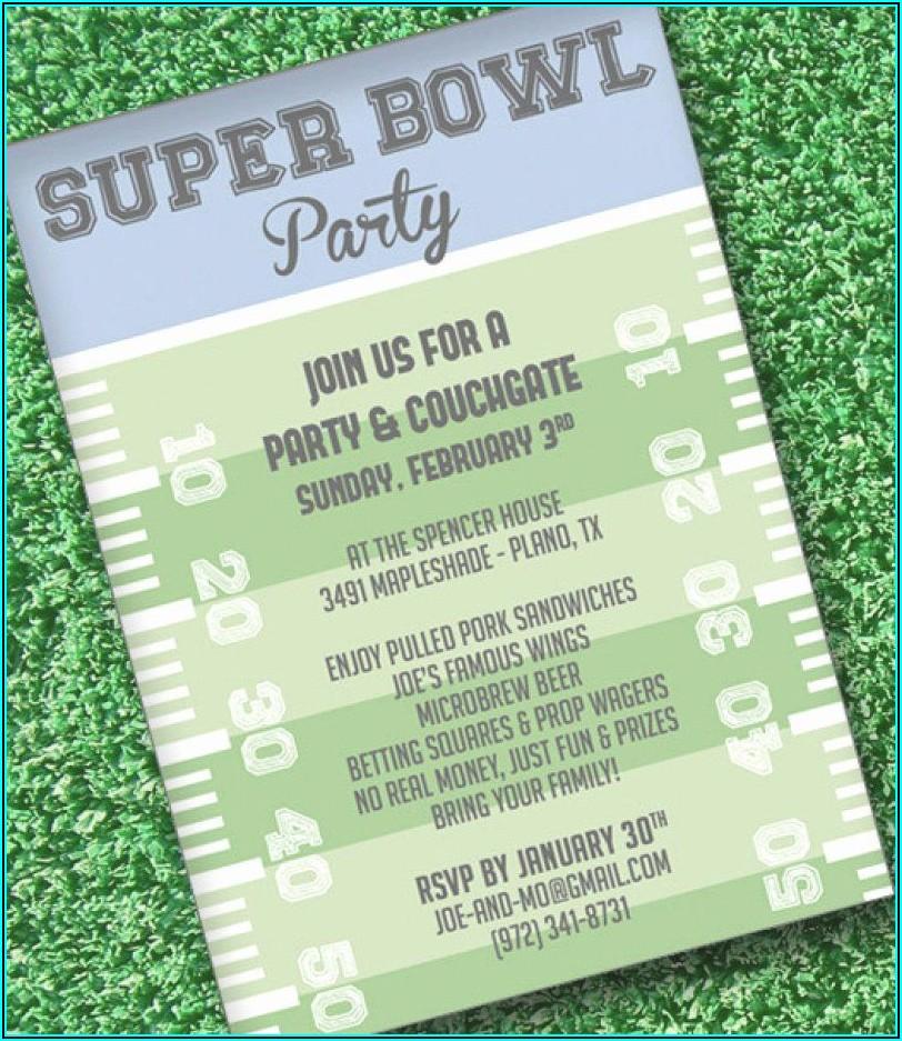 Super Bowl Invitation Templates