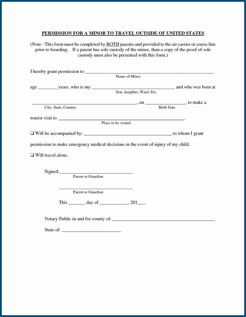 Temporary Guardianship Paperwork Texas