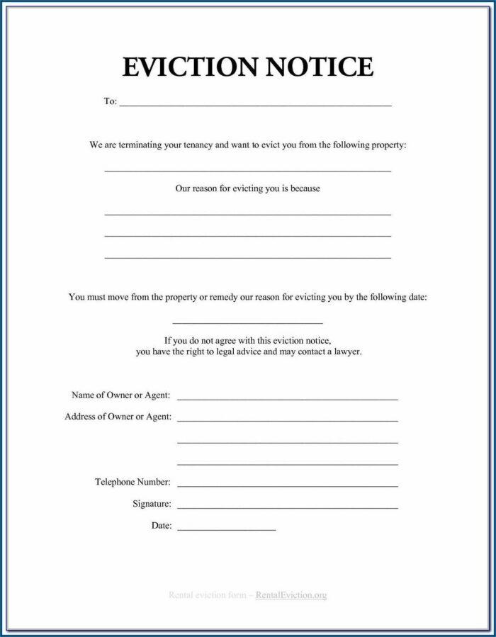 Tenant Eviction Notice Form Ontario