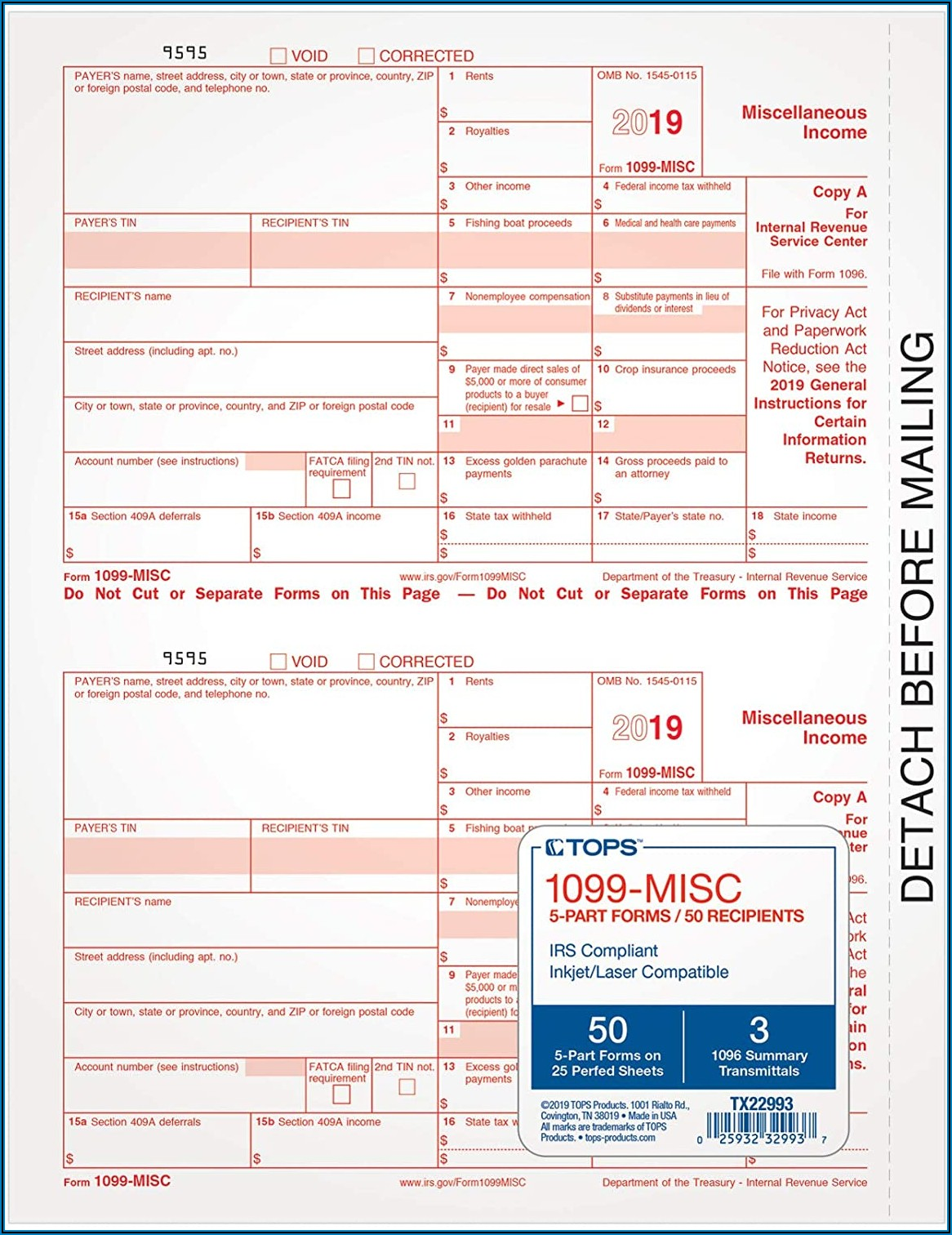 Tops 1099 Misc Tax Form Kit