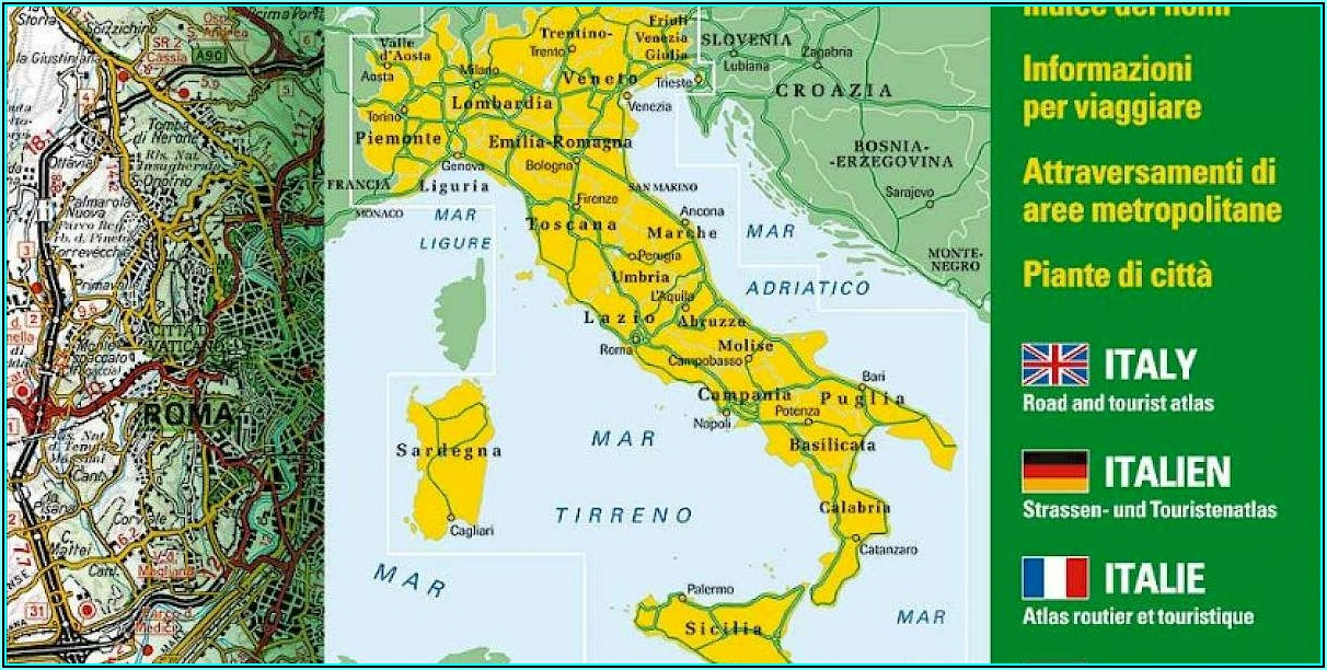 Touring Club Italiano Map Of Tuscany