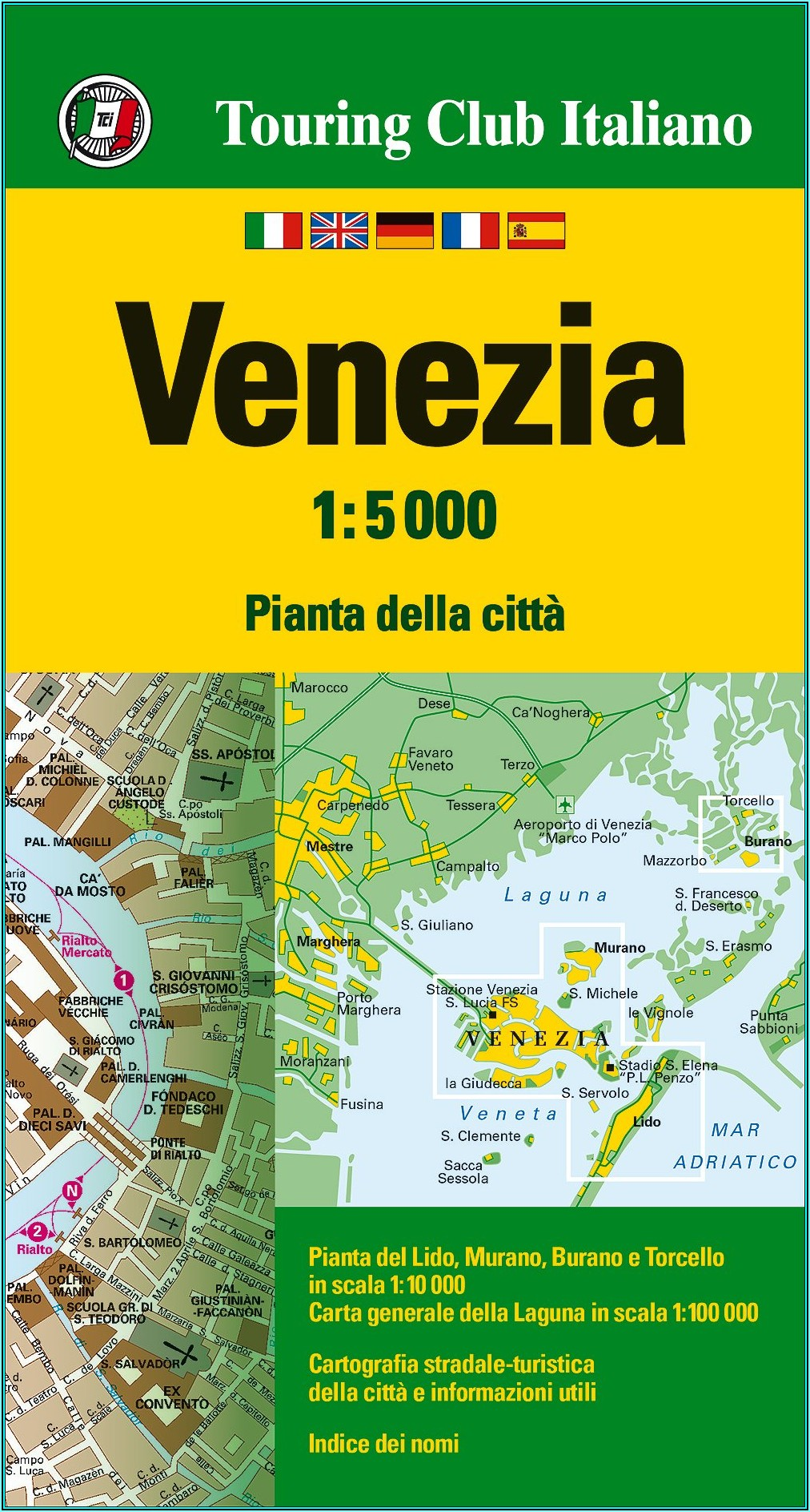 Touring Club Italiano Venice Map