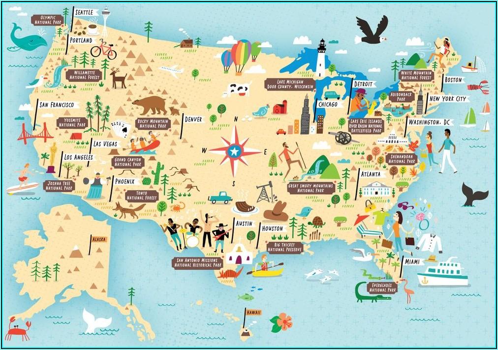 Us National Parks List Map