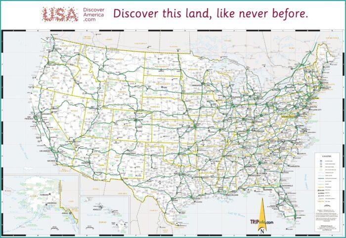 Usa Map Showing Interstates