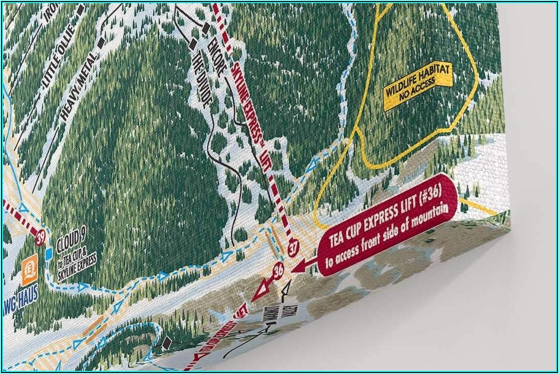 Vail Ski Map Poster