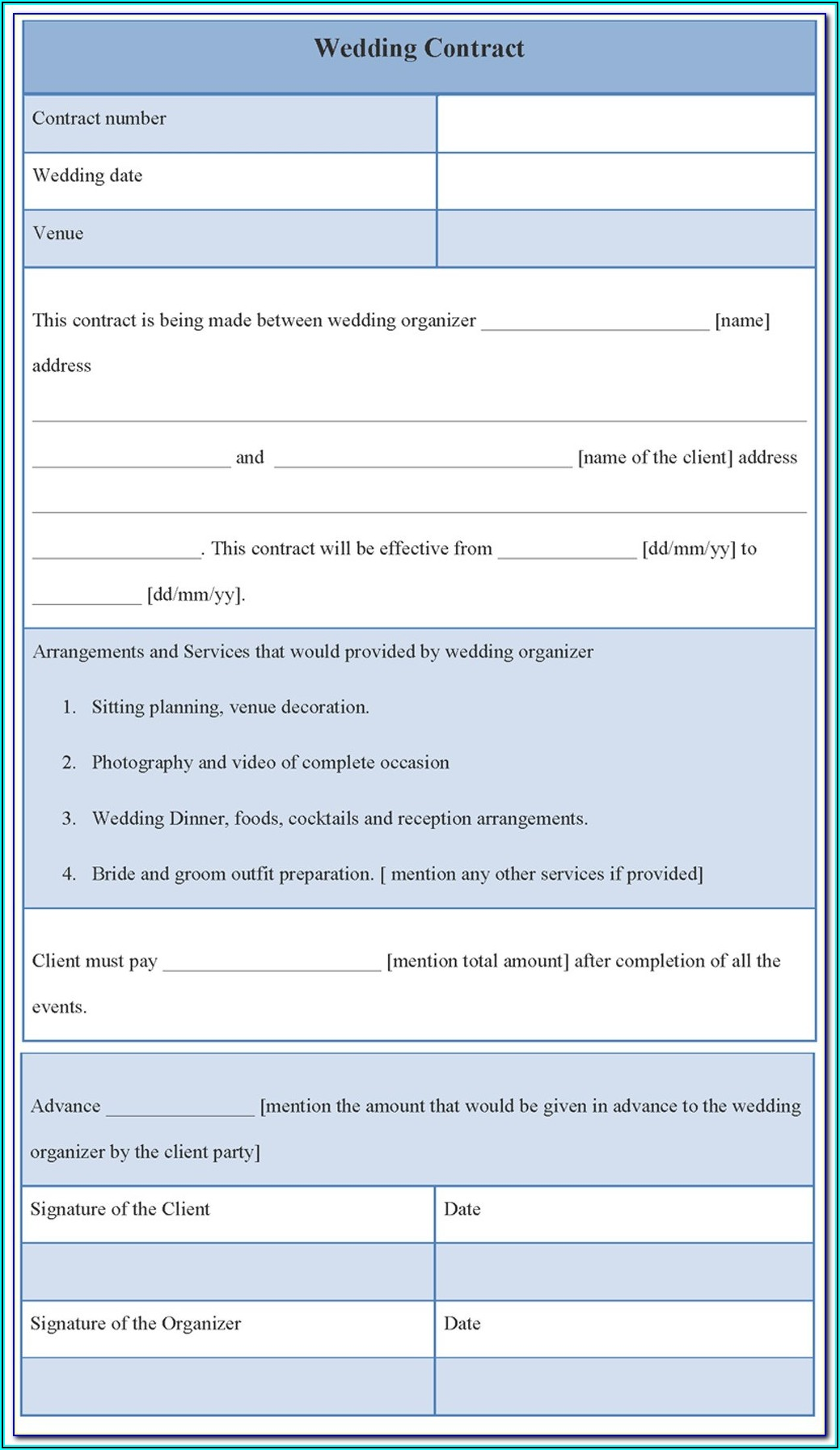 Vendor Service Level Agreement Template