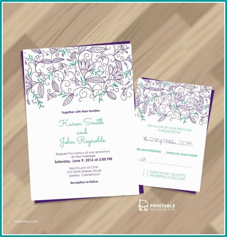 Wedding Invitation Address Label Template