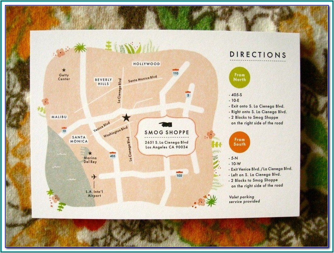Wedding Invitation Location Map