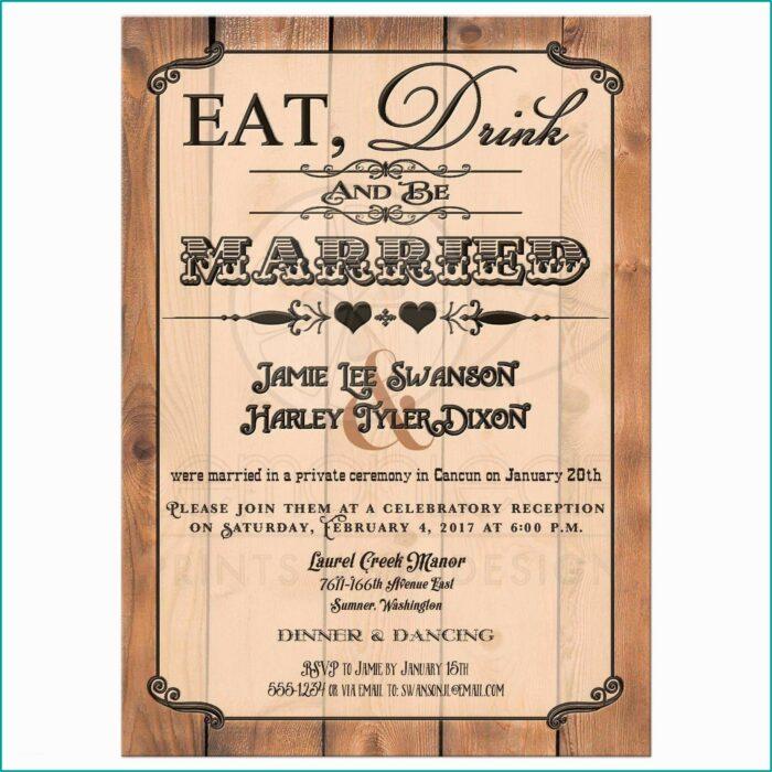 Wedding Reception Only Invitation Templates