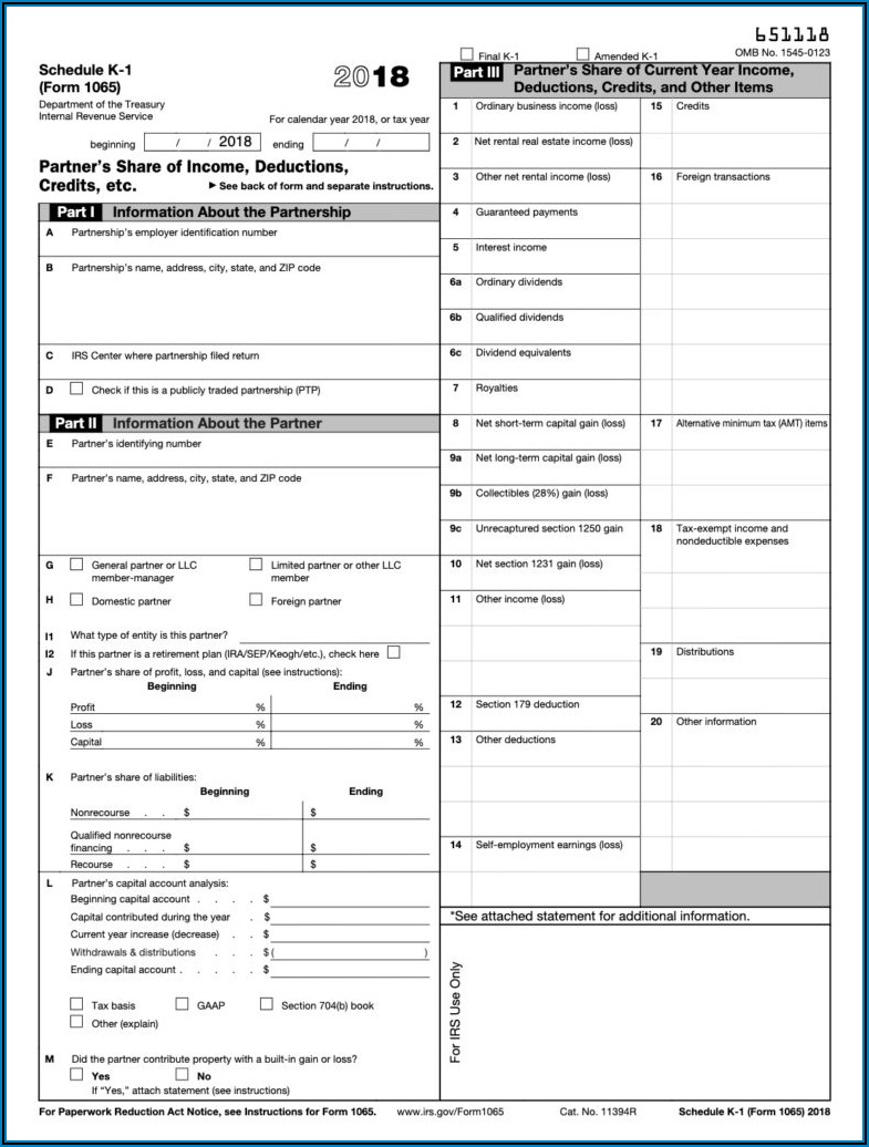 What Is A K1 Form For Taxes