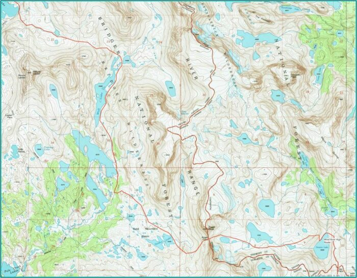 Wind River Range Highline Trail Map