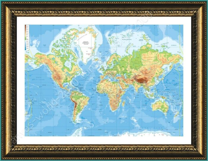 World Wall Maps Framed