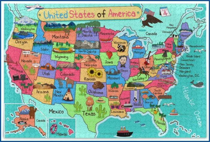 1000 Piece Jigsaw Puzzles Maps