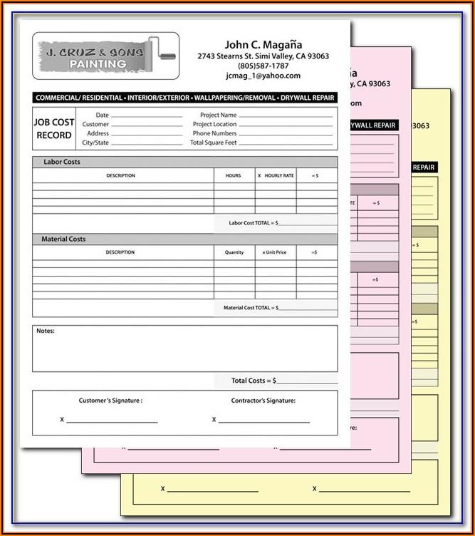 Adams Auto Repair Order Forms