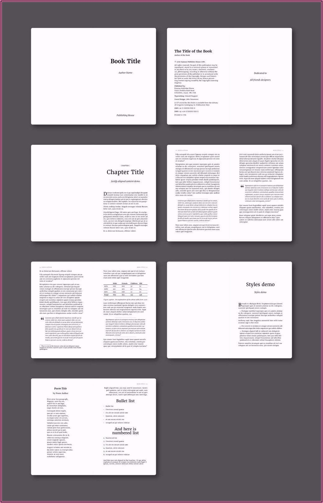 Adobe Indesign Ebook Template