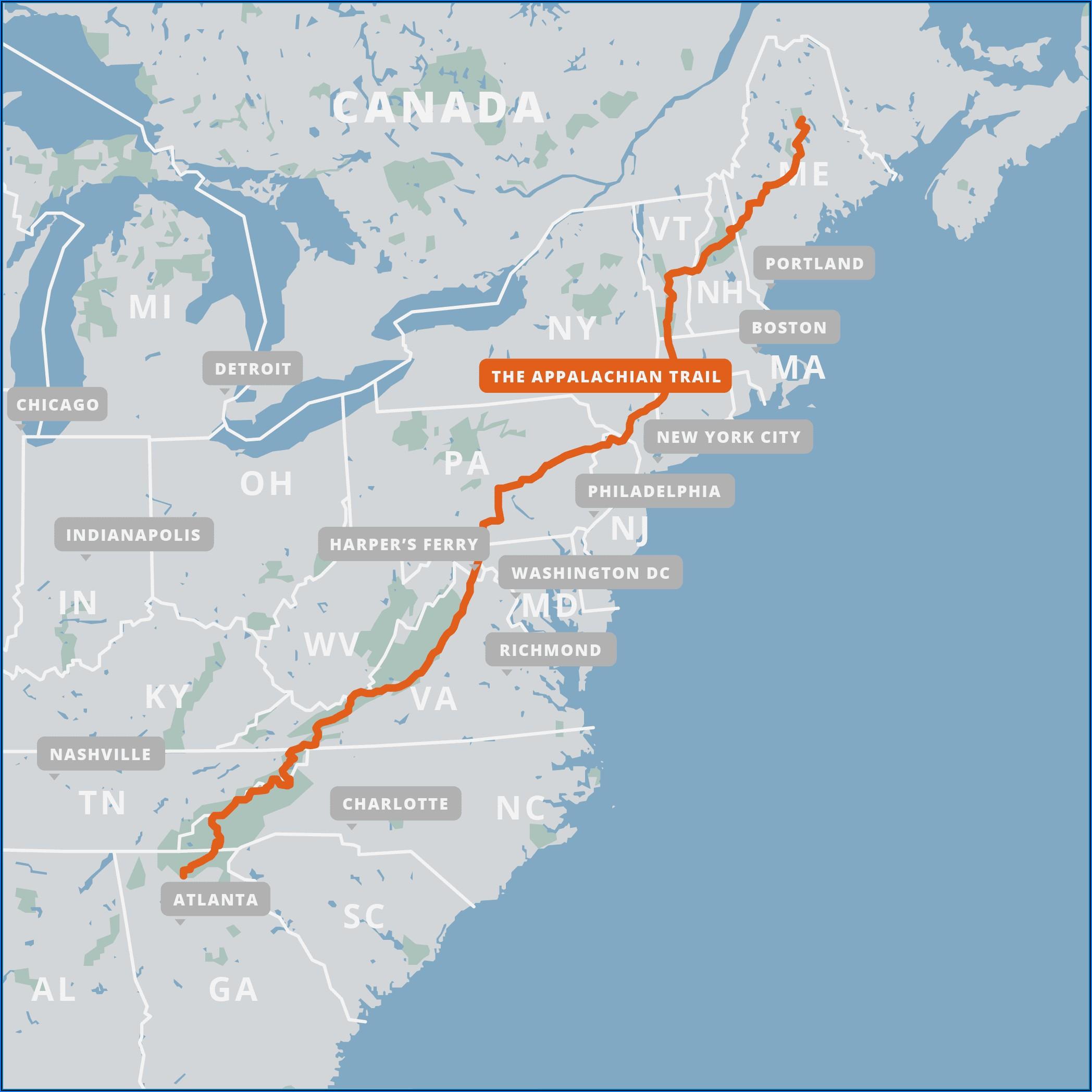 Appalachian Trail Maps For Sale