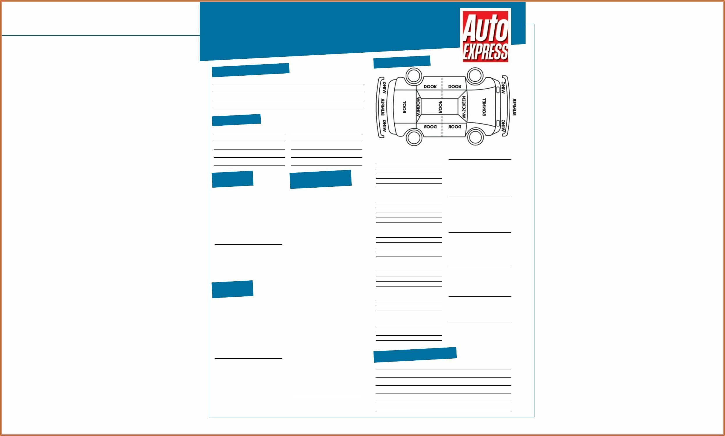 Auto Appraisal Form