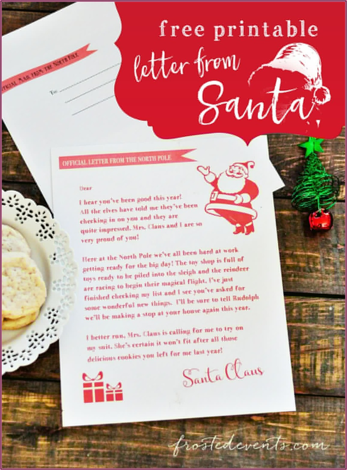Baby's First Christmas Letter From Santa Template