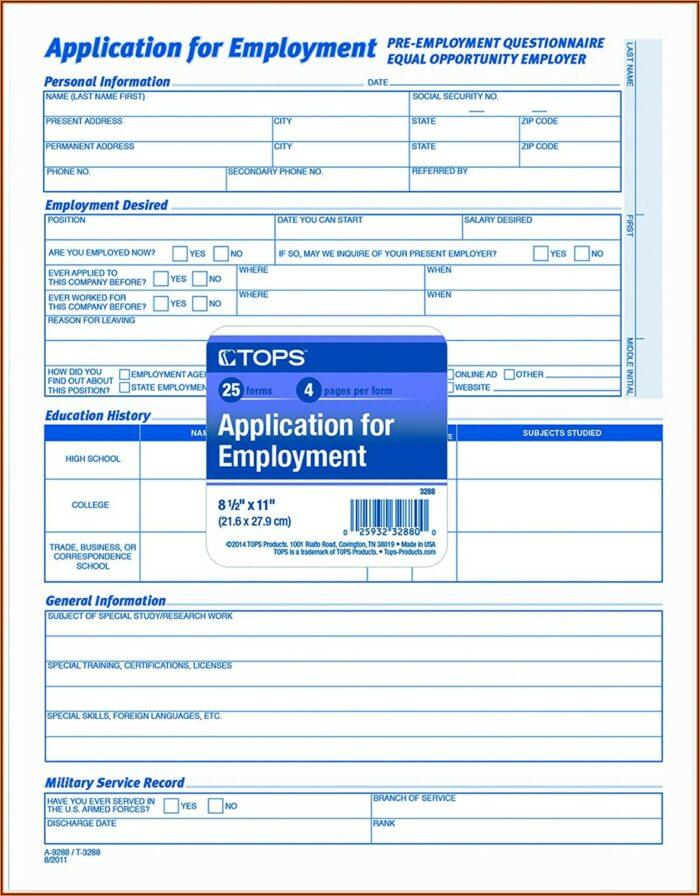 Basic Employee Application Form