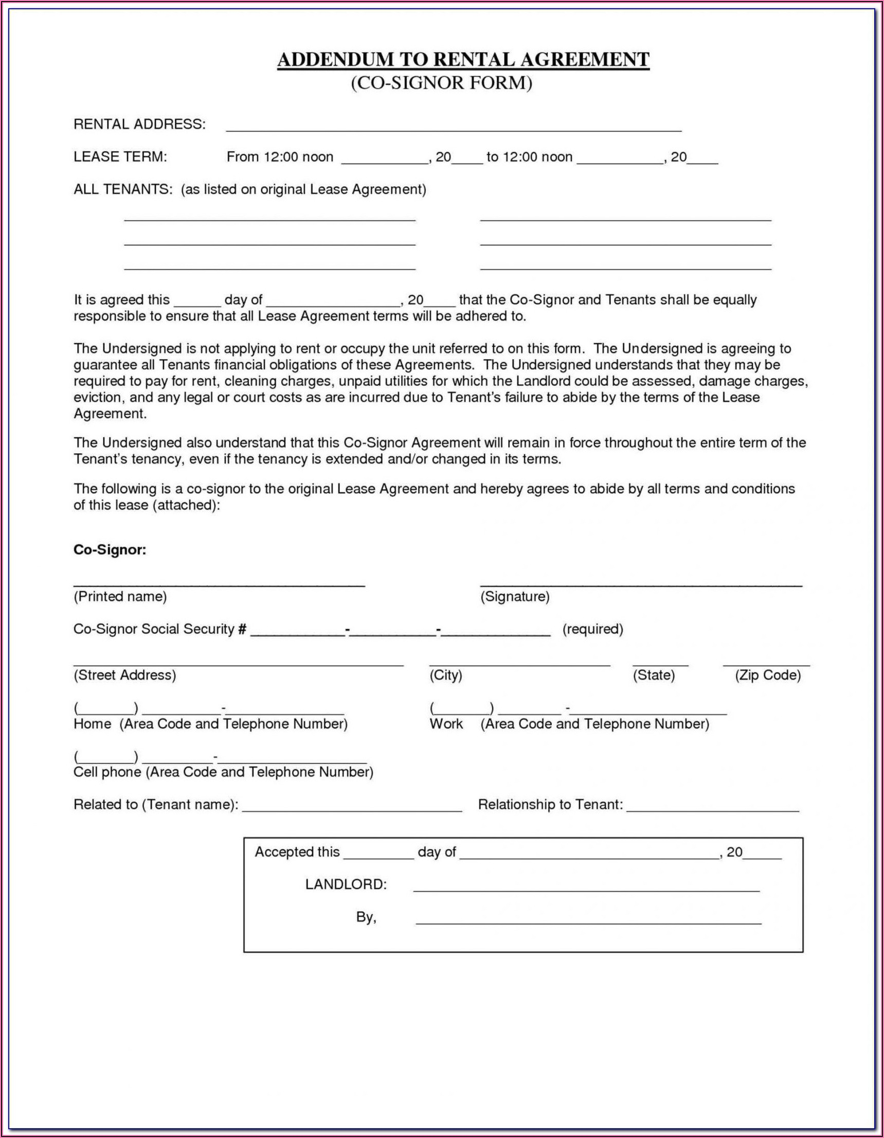 Bc Rental Application Form Pdf