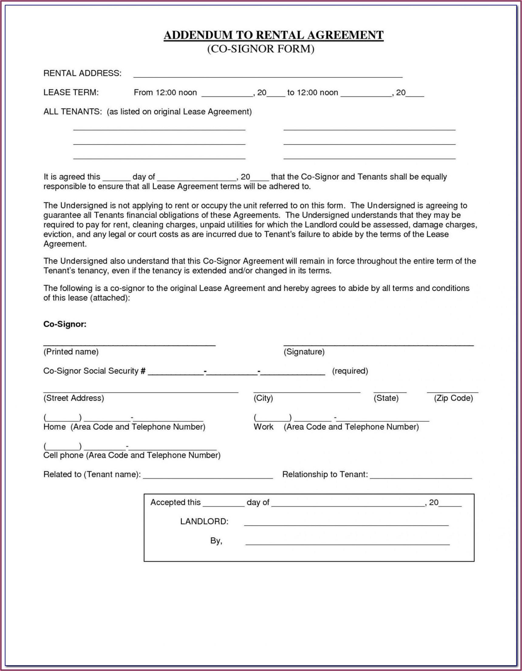 Bc Rental Application Form Pdf