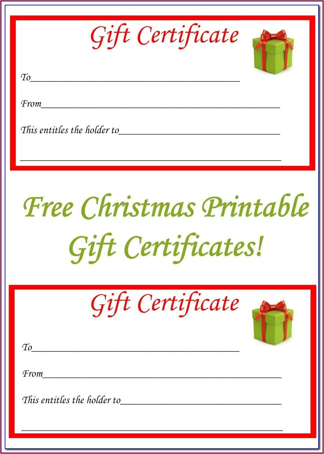 Birthday Gift Certificate Template Free Online