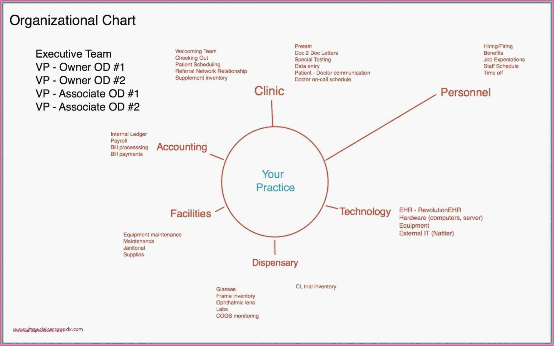 Business Plan Organizational Chart Template