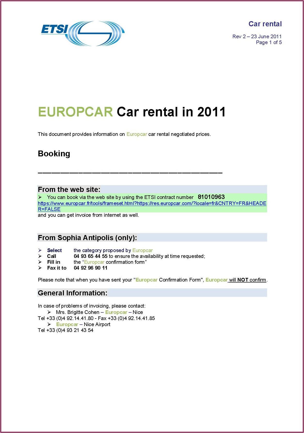 Car Rental Application Form Pdf
