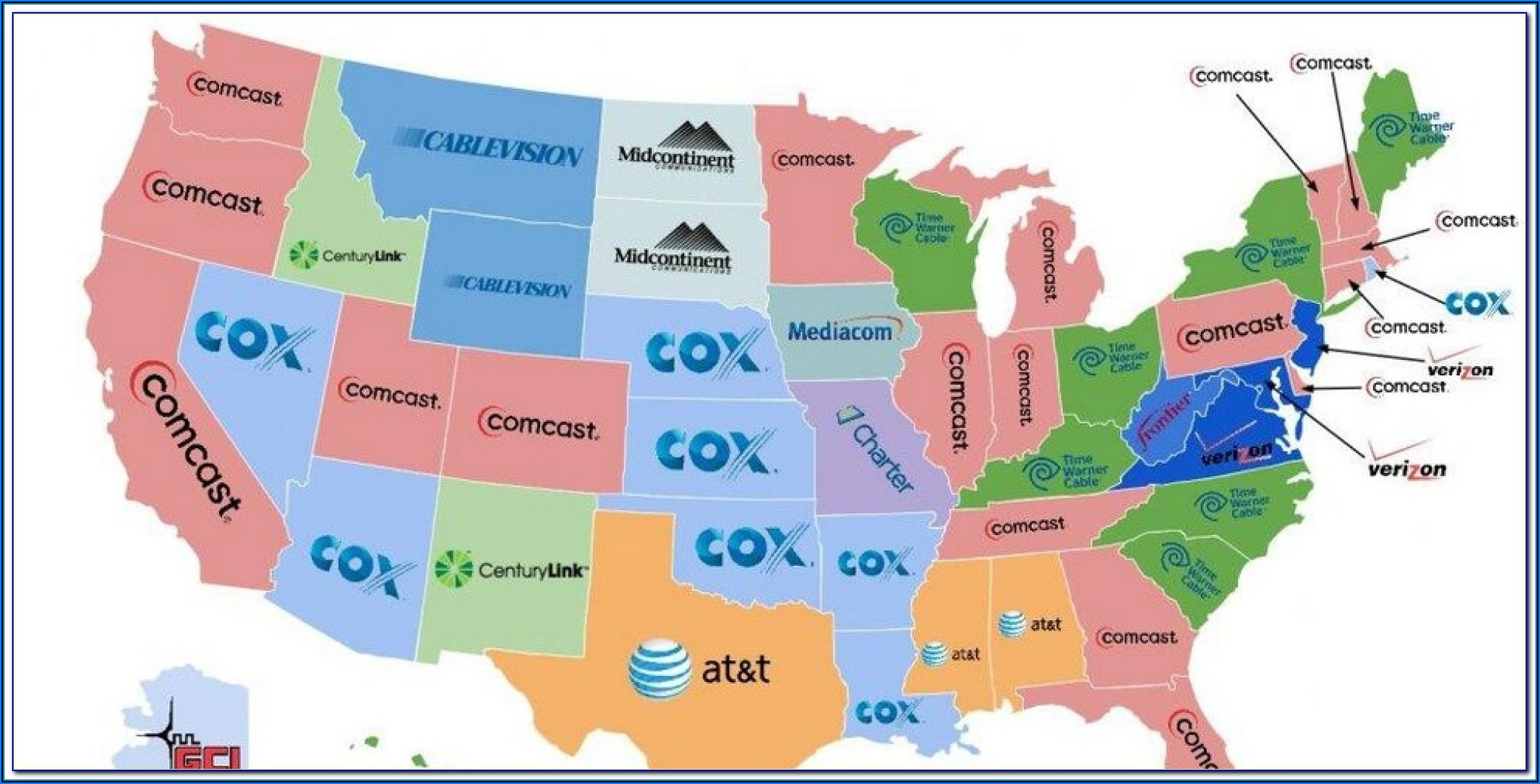 Charter Cable Tv Coverage Map
