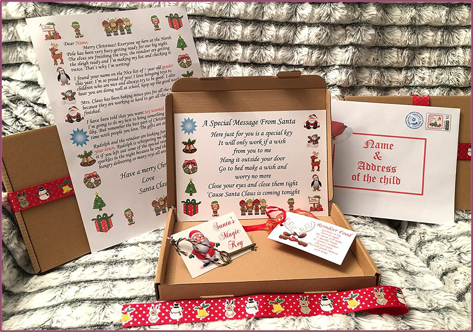 Christmas Eve Box Letter From Santa Template