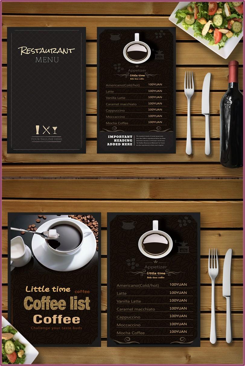 Coffee Menu Psd Template Free