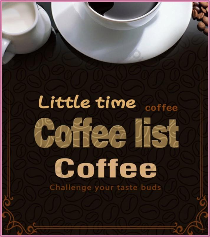 Coffee Menu Template Psd Free Download
