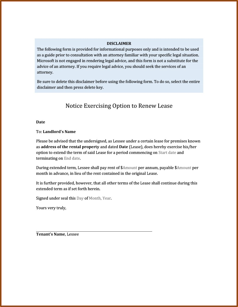 Commercial Lease Proposal Format