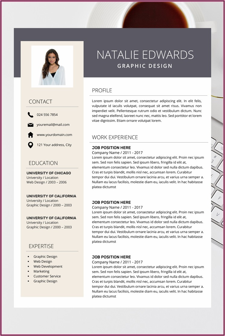 Creative Professional Cv Template Word