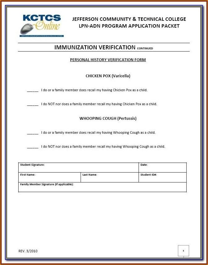Cvs Flu Shot Verification Form