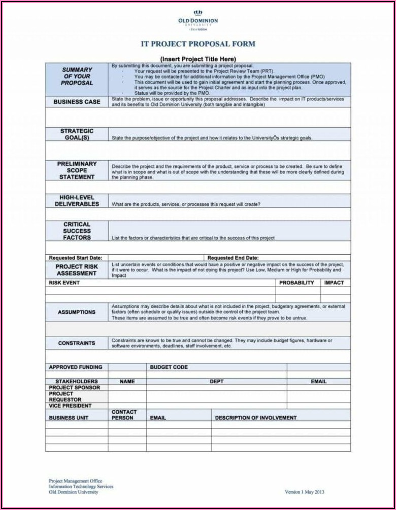 Download Free Proposal Template Word