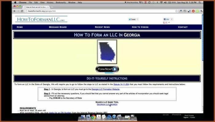 Form Llc In Georgia Online