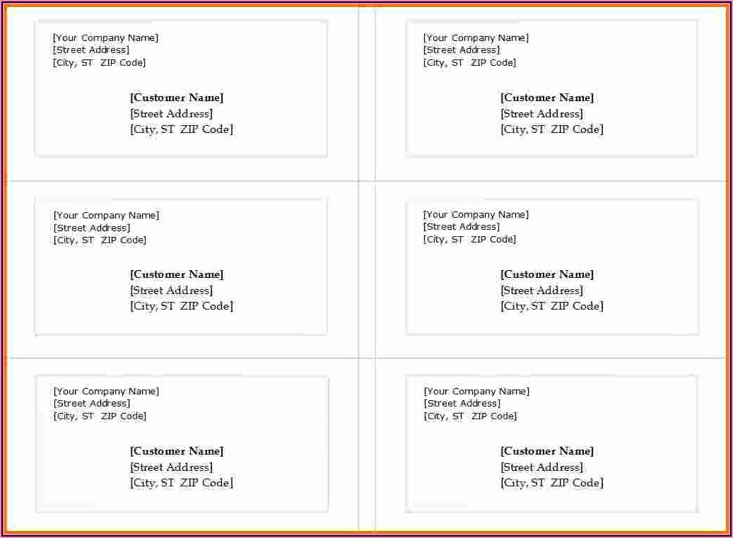 Free Avery Shipping Label Template 5163