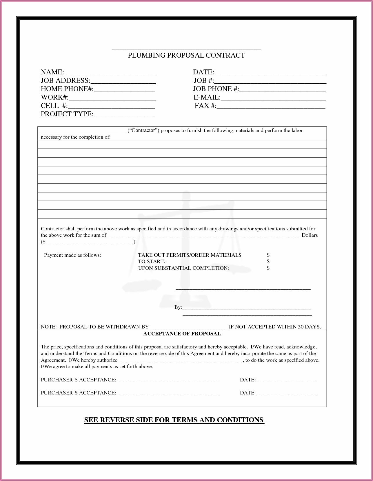 Free Bid Proposal Template Word
