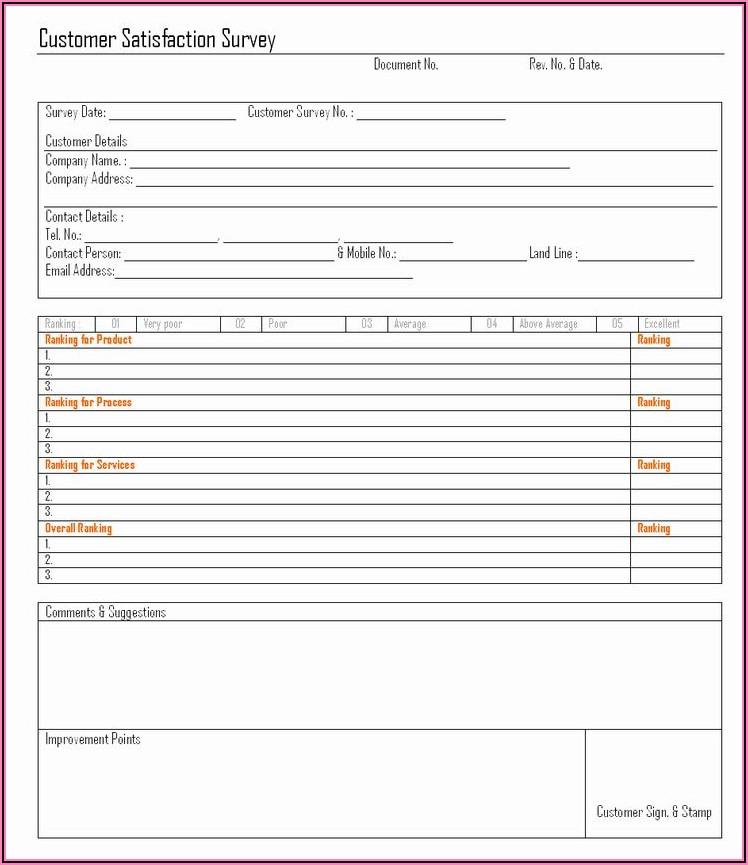 Free Customer Satisfaction Survey Form